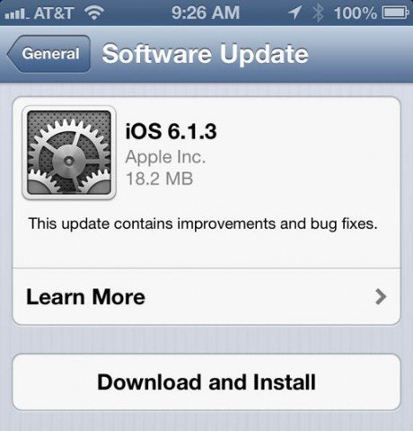 Apple IOS 6.1.3